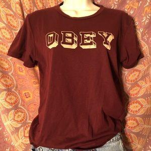 maroon obey tee!